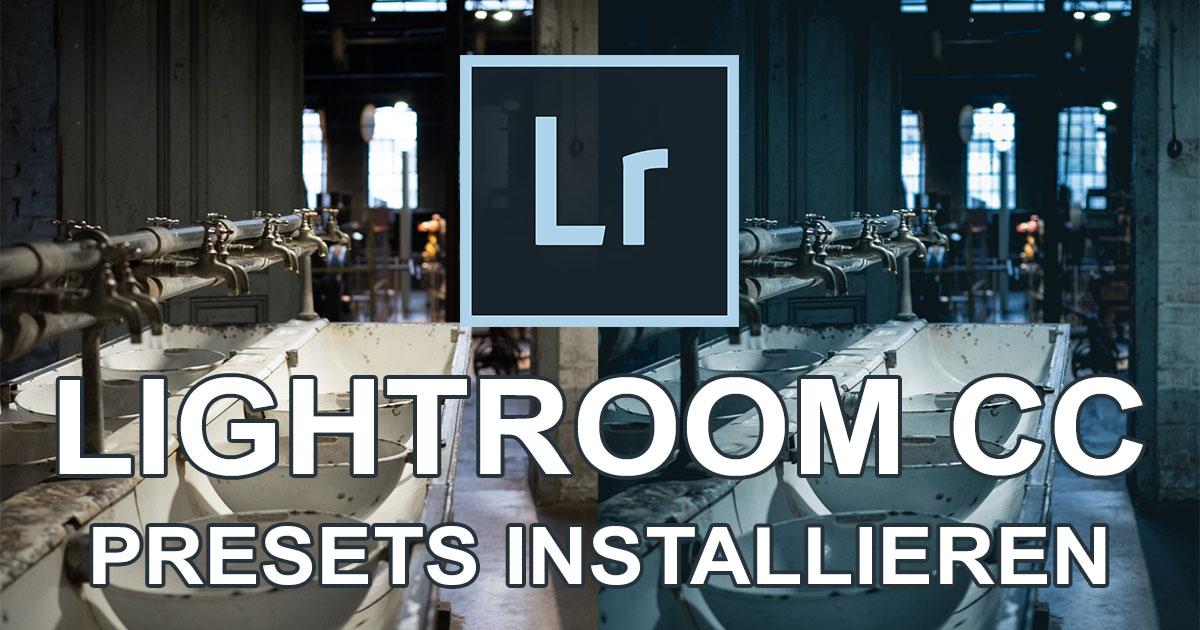 Installation von Lightroom Presets