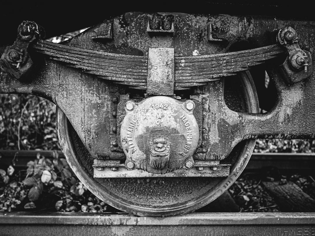 Industriefoto in Schwarzweiß