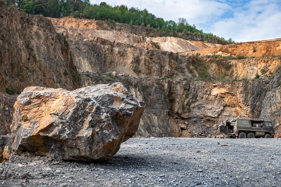 Industriefotografie im Steinbruch Osterholz